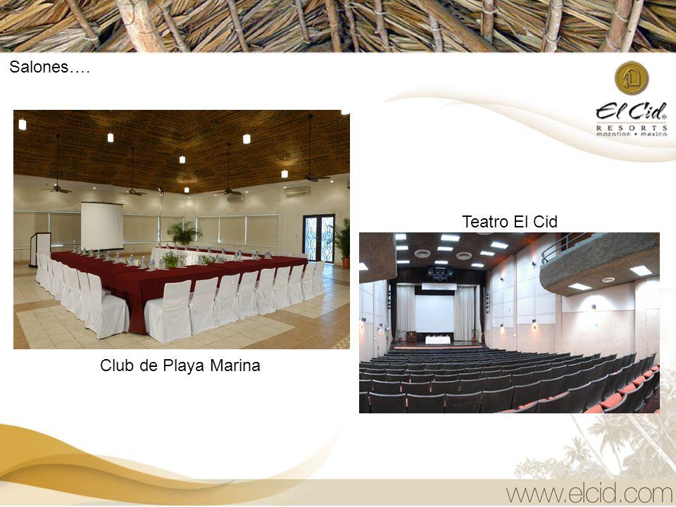 Salones…. Teatro El Cid Club de Playa Marina