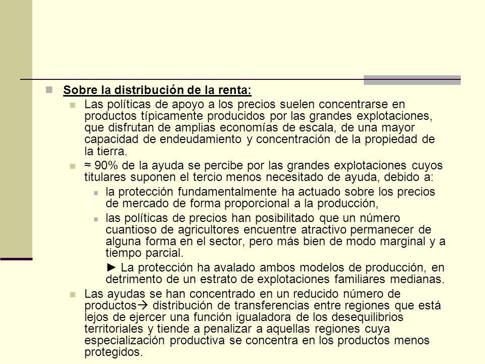 Sobre la distribución de la renta: