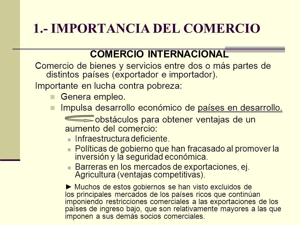 1.- IMPORTANCIA DEL COMERCIO