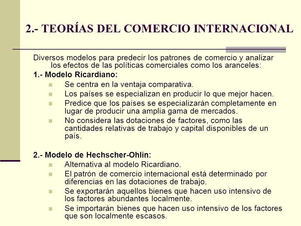 2.- TEORÍAS DEL COMERCIO INTERNACIONAL