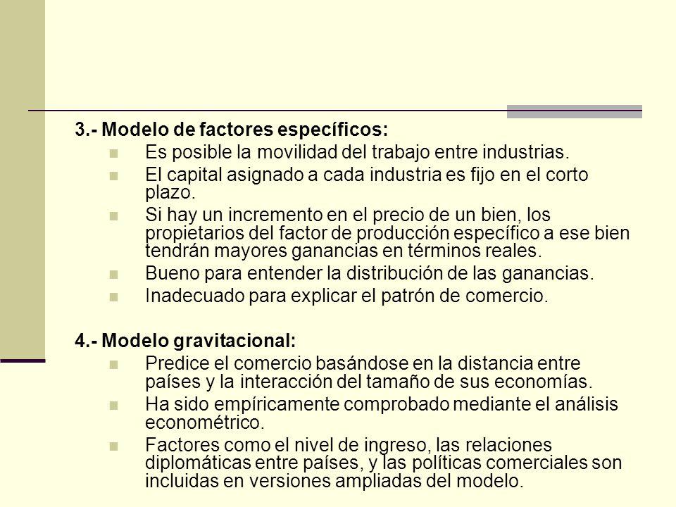 3.- Modelo de factores específicos: