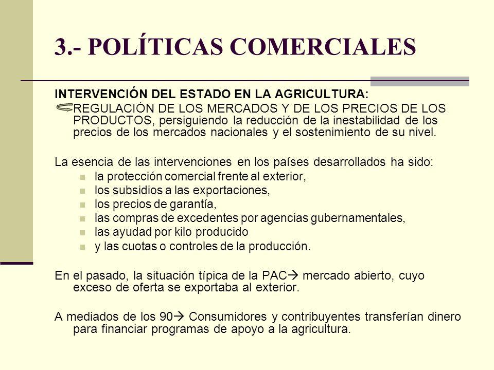 3.- POLÍTICAS COMERCIALES
