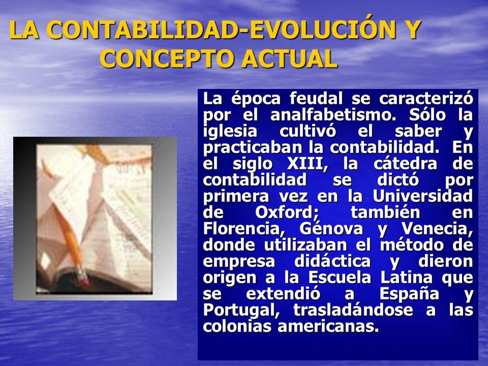 LA CONTABILIDAD-EVOLUCIÓN Y