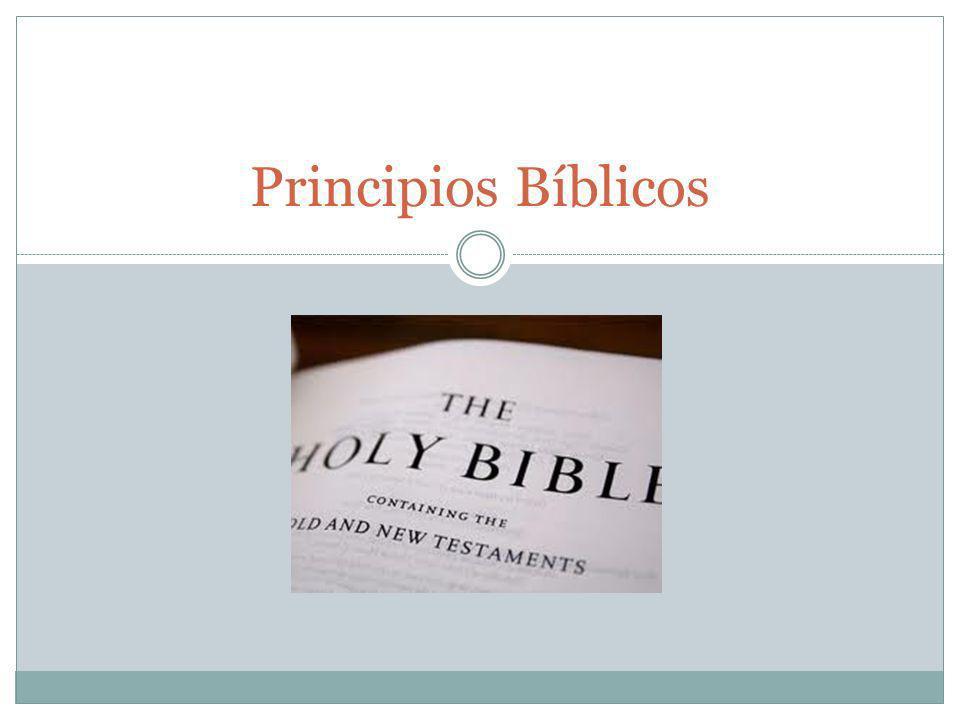 Principios Bíblicos .