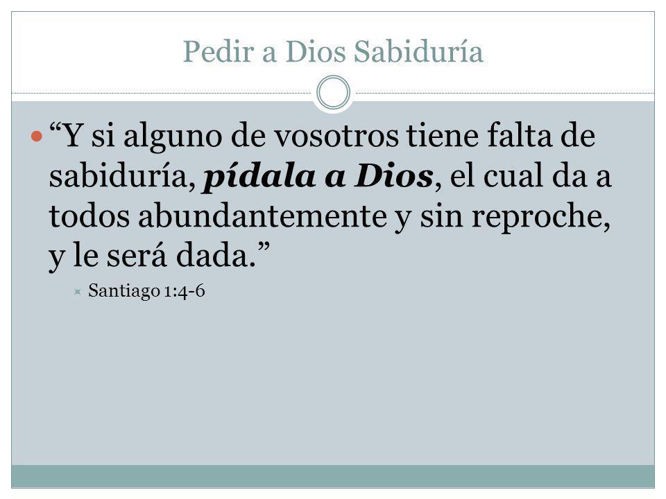 Pedir a Dios Sabiduría