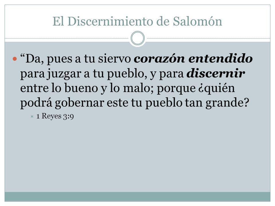 El Discernimiento de Salomón