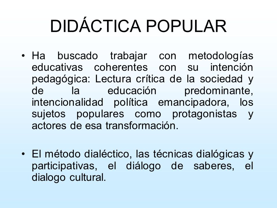 DIDÁCTICA POPULAR