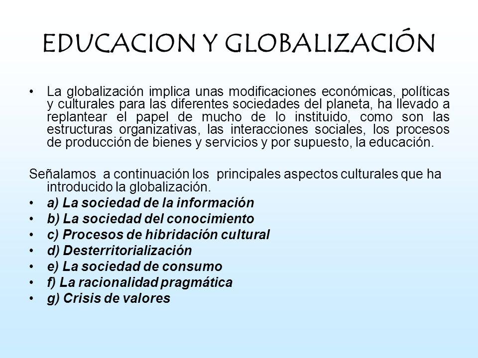 EDUCACION Y GLOBALIZACIÓN