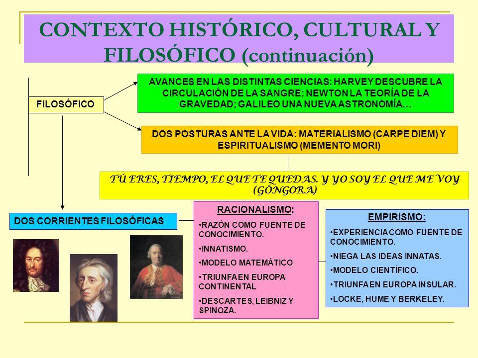 CONTEXTO HISTÓRICO, CULTURAL Y FILOSÓFICO (continuación)