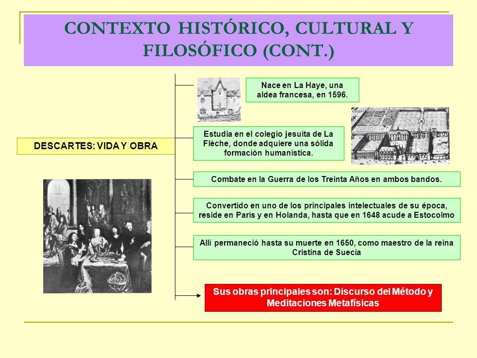 CONTEXTO HISTÓRICO, CULTURAL Y FILOSÓFICO (CONT.)