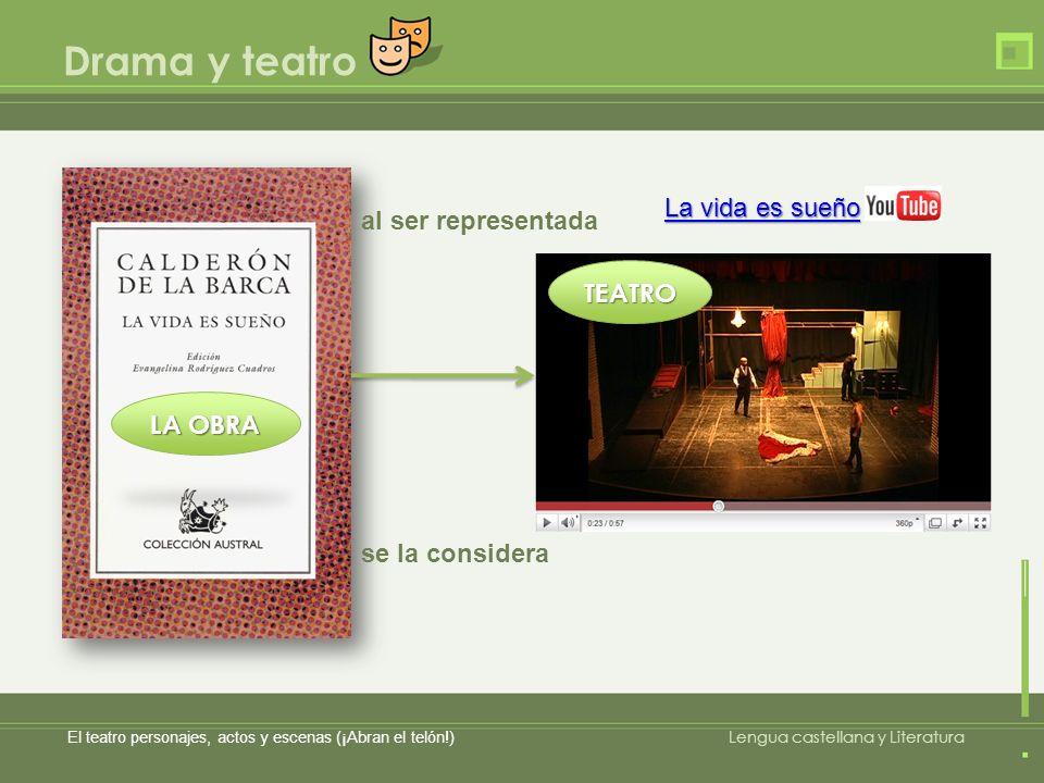 Drama y teatro La vida es sueño al ser representada TEATRO LA OBRA
