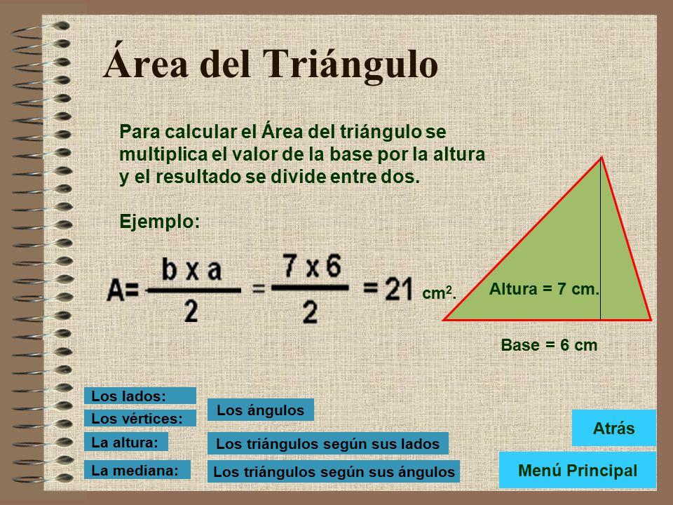 Los triángulos según sus lados Los triángulos según sus ángulos