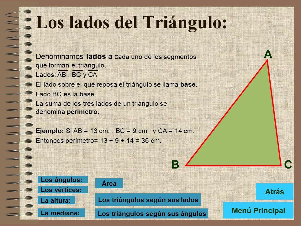 Los lados del Triángulo: