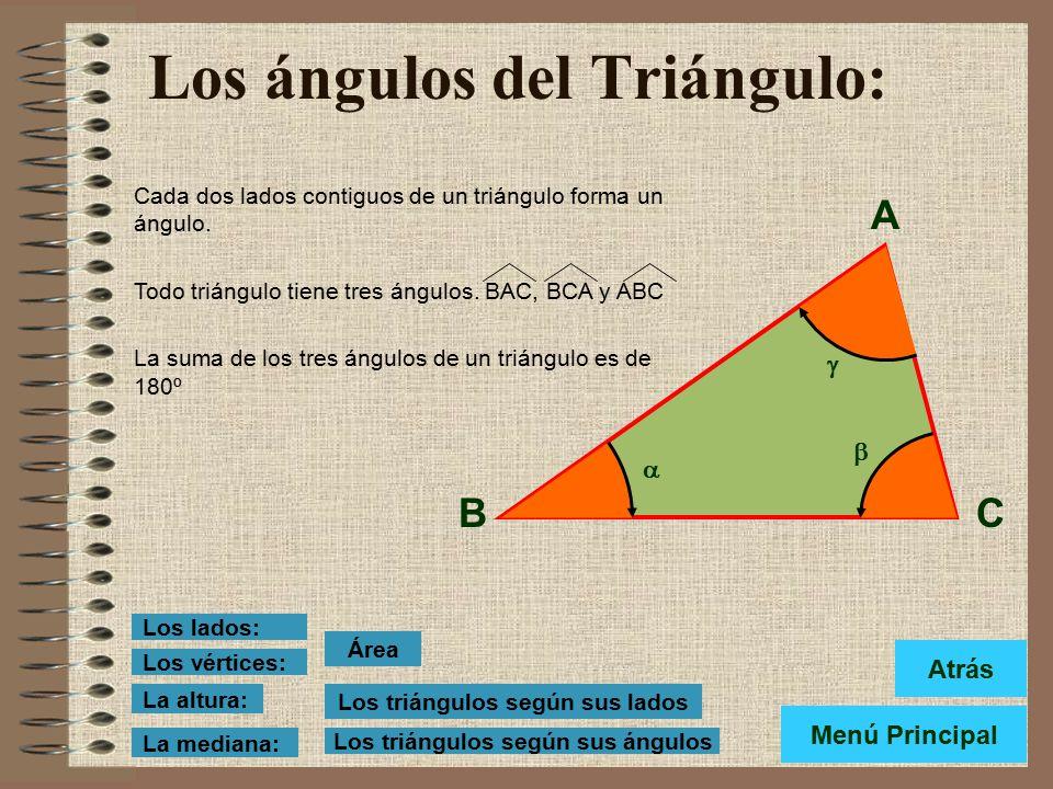 Los ángulos del Triángulo: