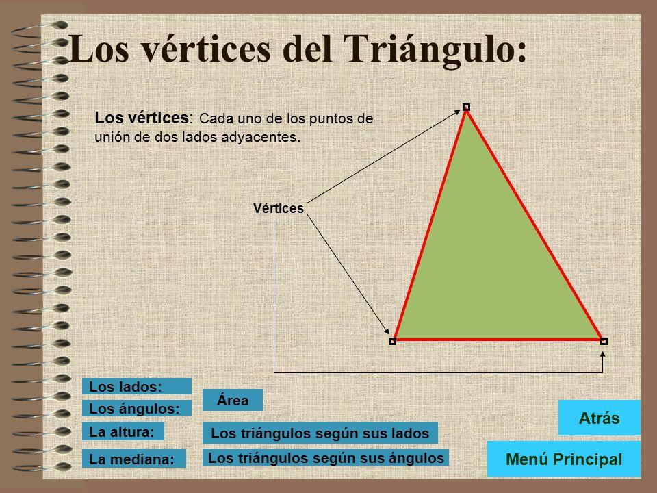 Los vértices del Triángulo: