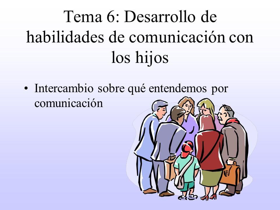 Tema 6: Desarrollo de habilidades de comunicación con los hijos