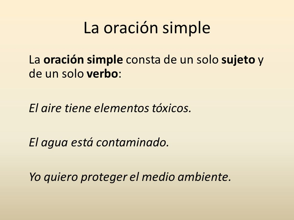La oración simple