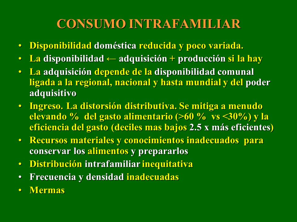 CONSUMO INTRAFAMILIAR