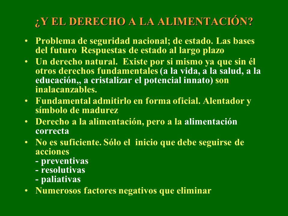 ¿Y EL DERECHO A LA ALIMENTACIÓN