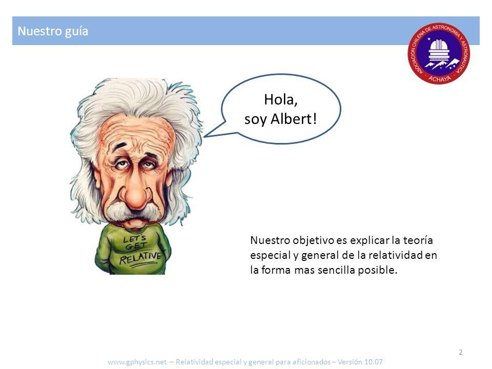 Hola, soy Albert! Nuestro guía Nuestro objetivo es explicar la teoría