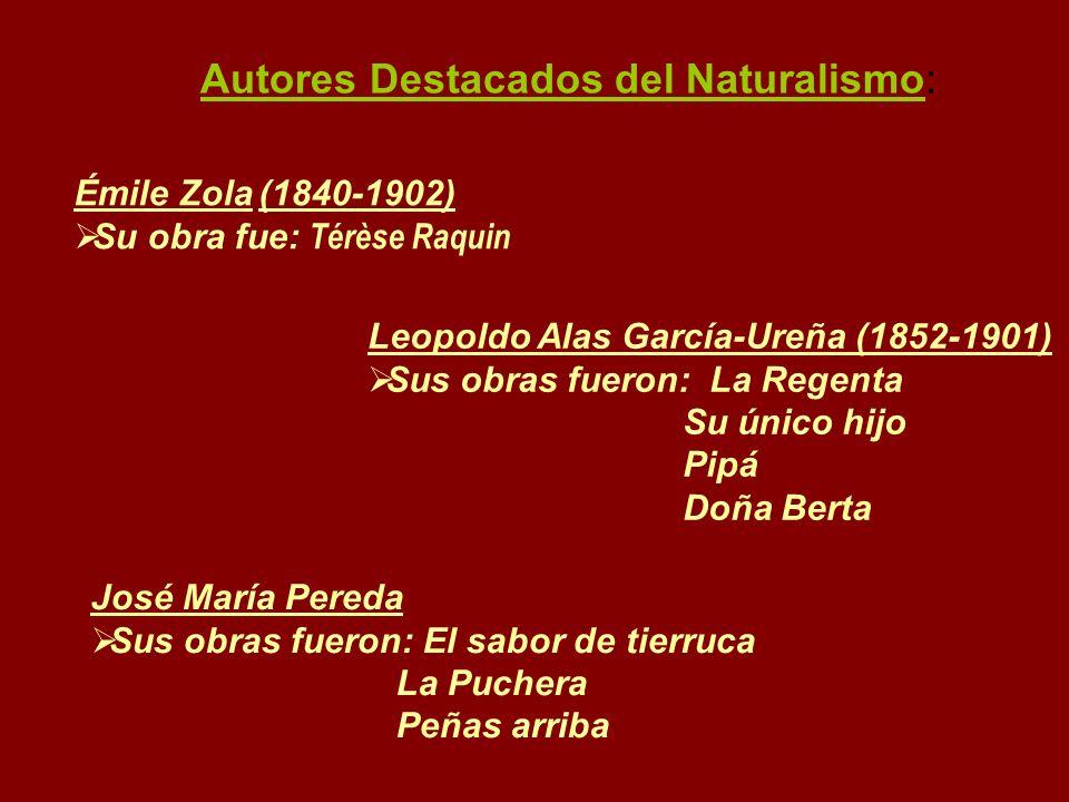 Autores Destacados del Naturalismo: