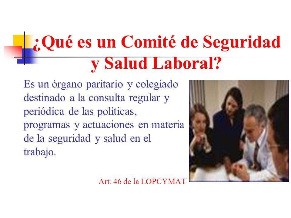 ¿Qué es un Comité de Seguridad y Salud Laboral