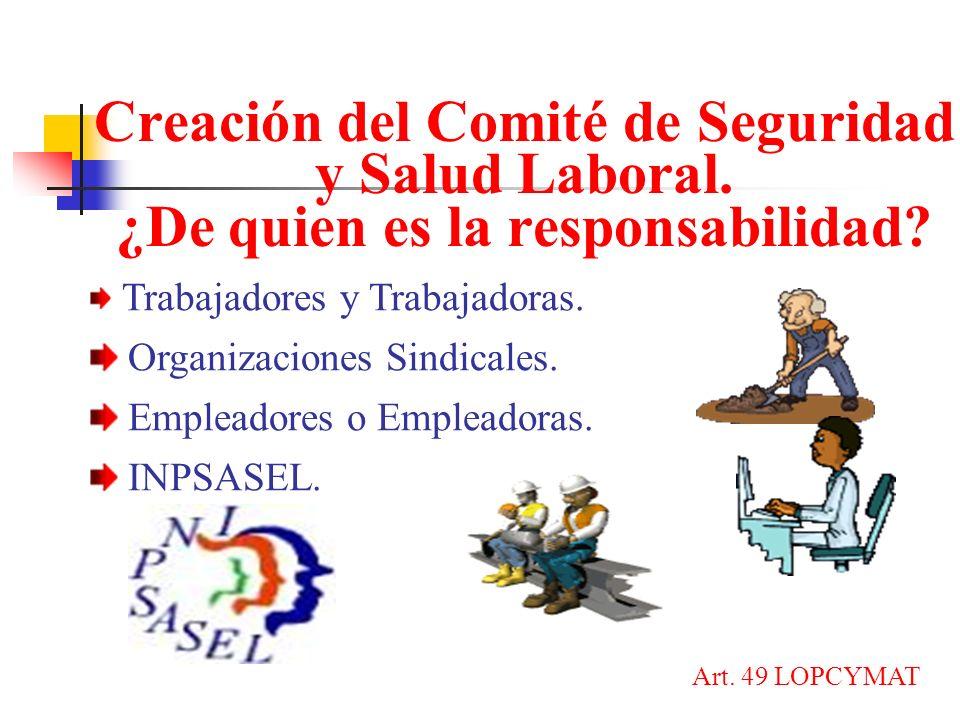 Creación del Comité de Seguridad y Salud Laboral