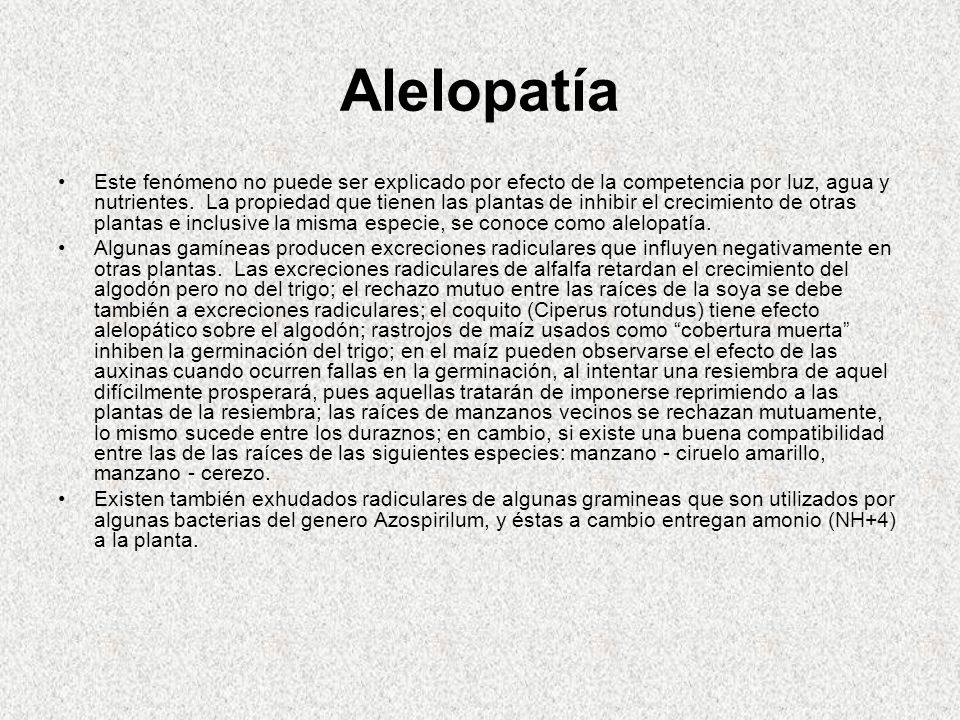 Alelopatía