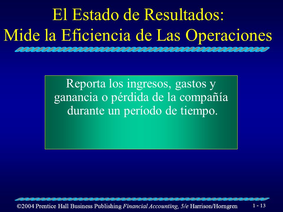 El Estado de Resultados: Mide la Eficiencia de Las Operaciones