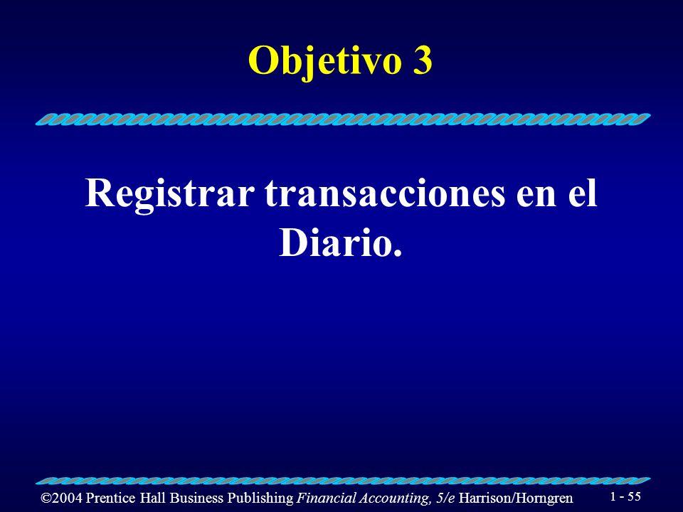 Registrar transacciones en el