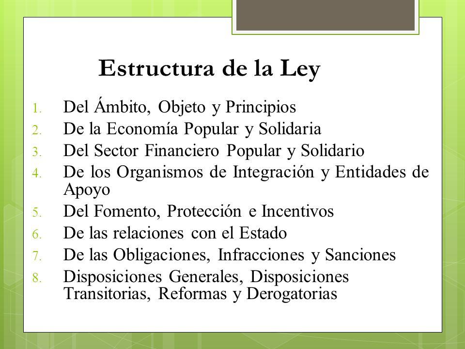 Estructura de la Ley Del Ámbito, Objeto y Principios