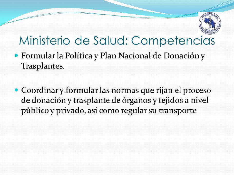Ministerio de Salud: Competencias