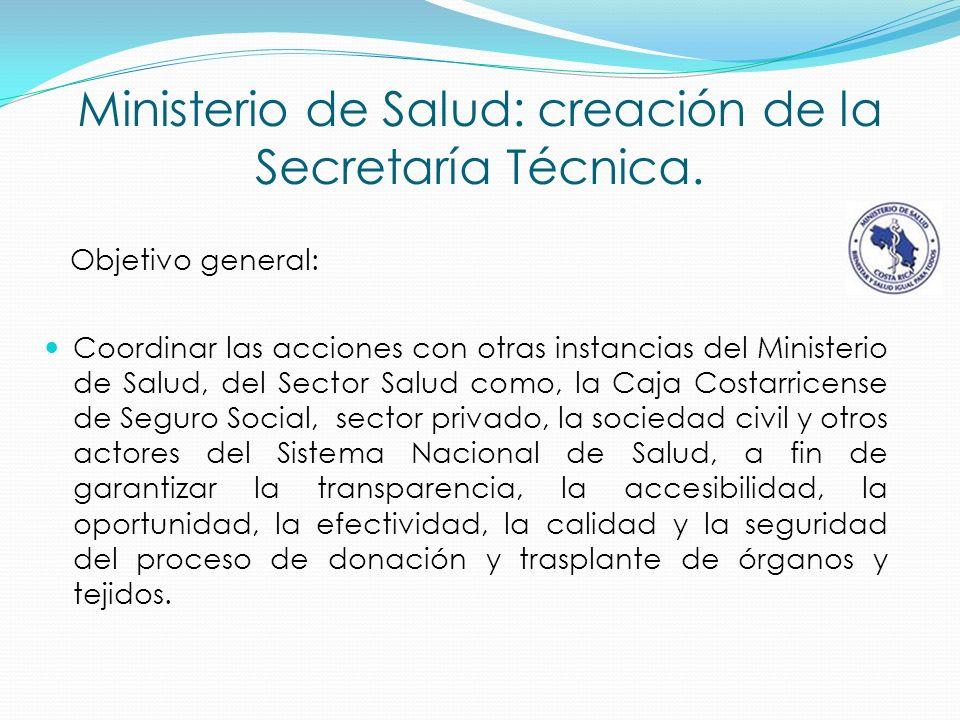 Ministerio de Salud: creación de la Secretaría Técnica.
