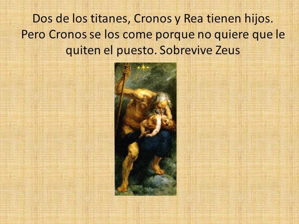 Dos de los titanes, Cronos y Rea tienen hijos