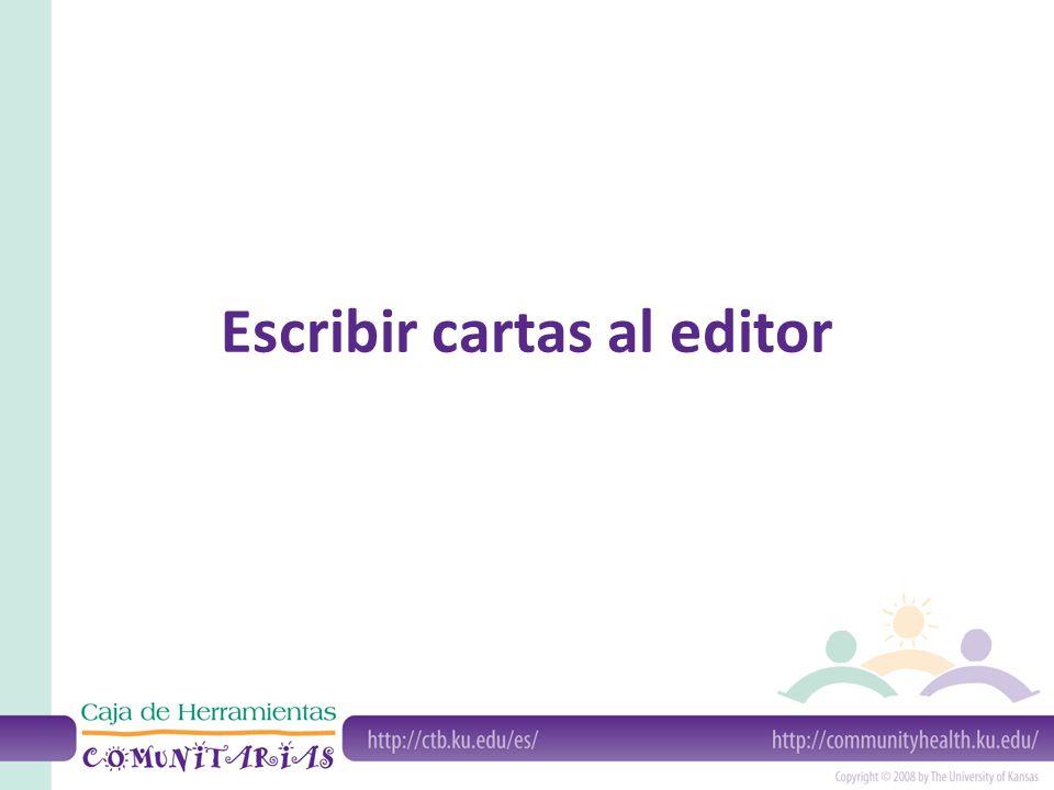 Escribir cartas al editor