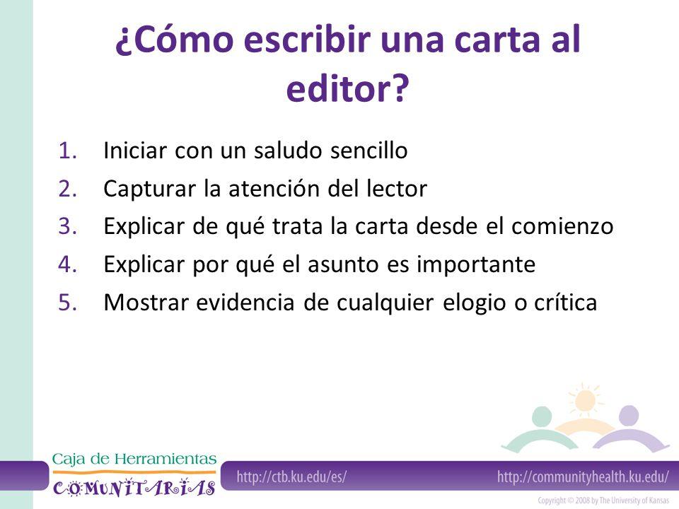 ¿Cómo escribir una carta al editor