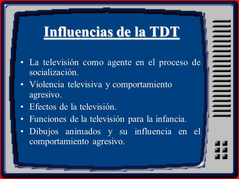 Influencias de la TDTLa televisión como agente en el proceso de socialización. Violencia televisiva y comportamiento agresivo.
