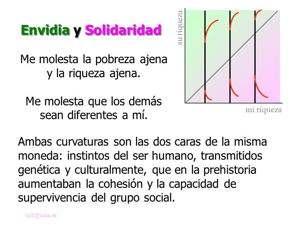 Envidia y Solidaridad Me molesta la pobreza ajena y la riqueza ajena.