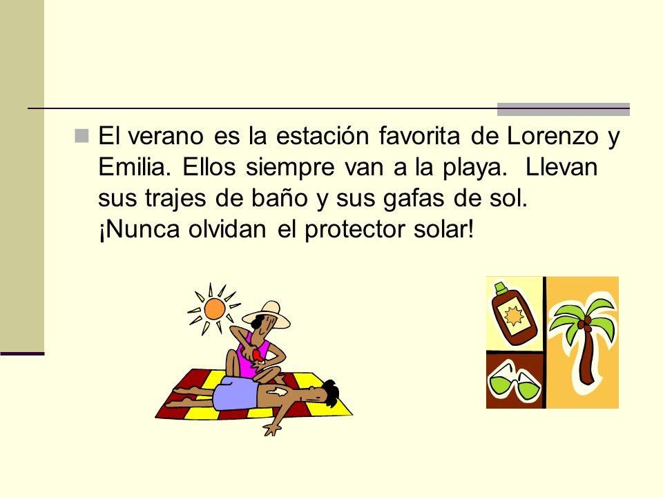 El verano es la estación favorita de Lorenzo y Emilia