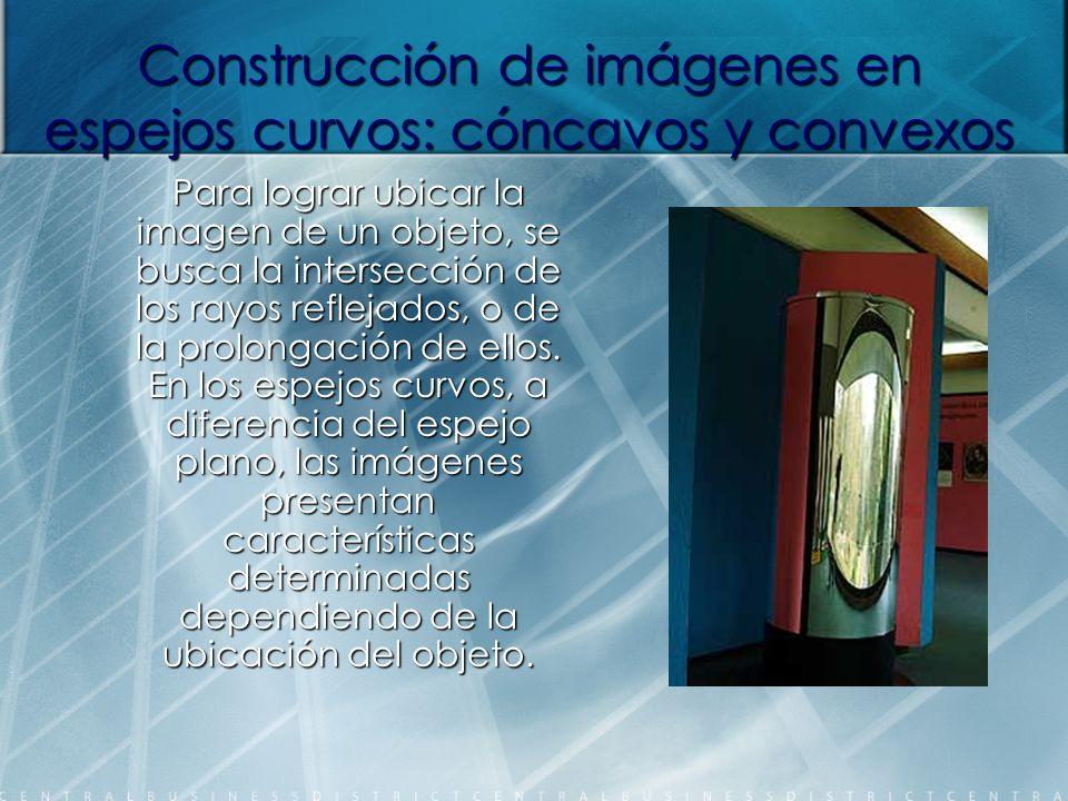 Construcción de imágenes en espejos curvos: cóncavos y convexos
