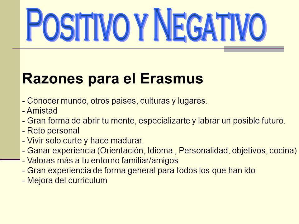 Razones para el Erasmus