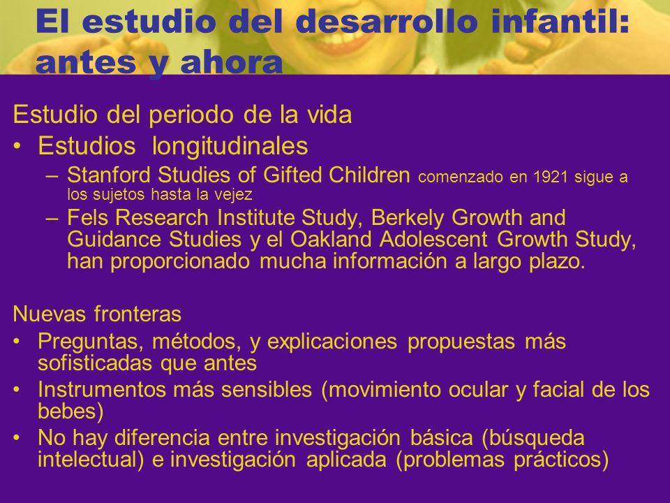 El estudio del desarrollo infantil: antes y ahora