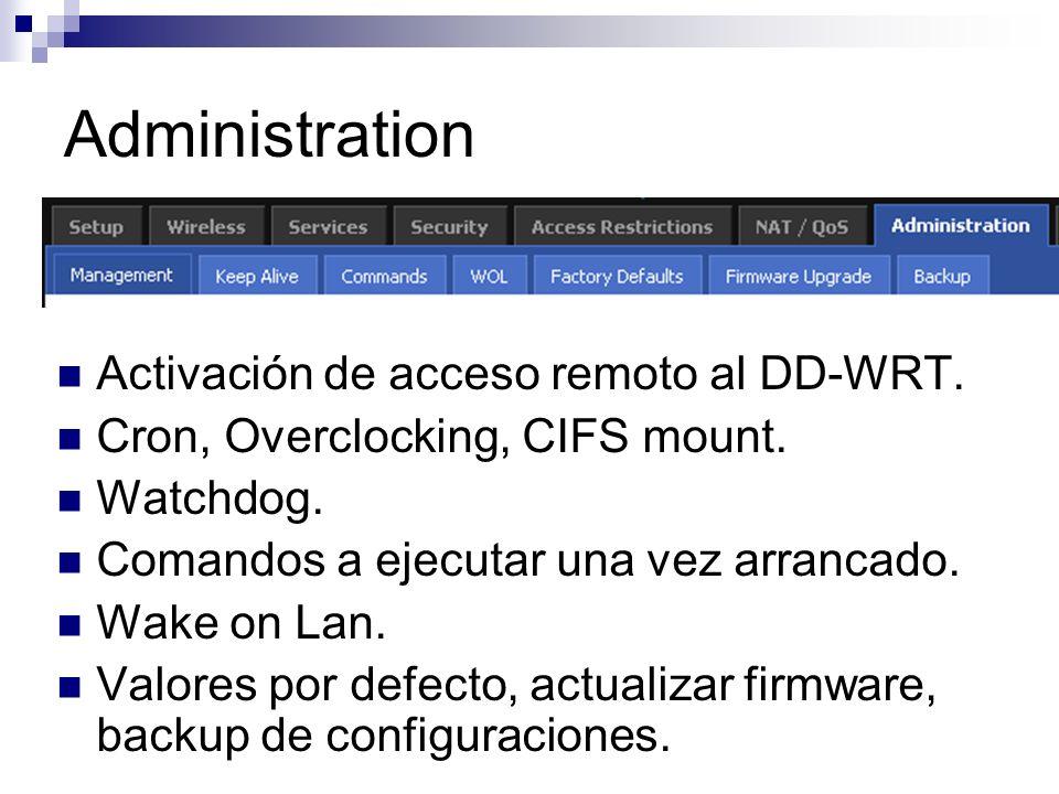 Administration Activación de acceso remoto al DD-WRT.