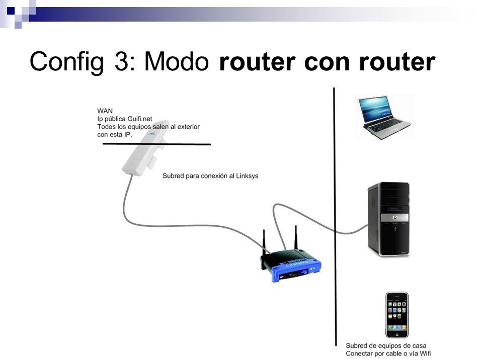 Config 3: Modo router con router