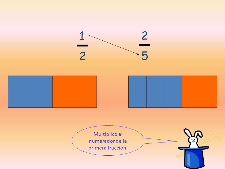 Multiplico el numerador de la primera fracción,