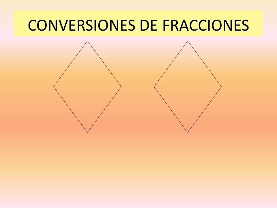 CONVERSIONES DE FRACCIONES