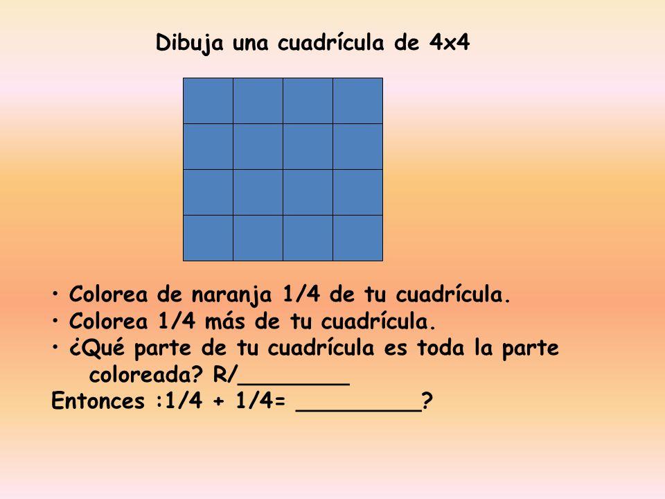 Dibuja una cuadrícula de 4x4