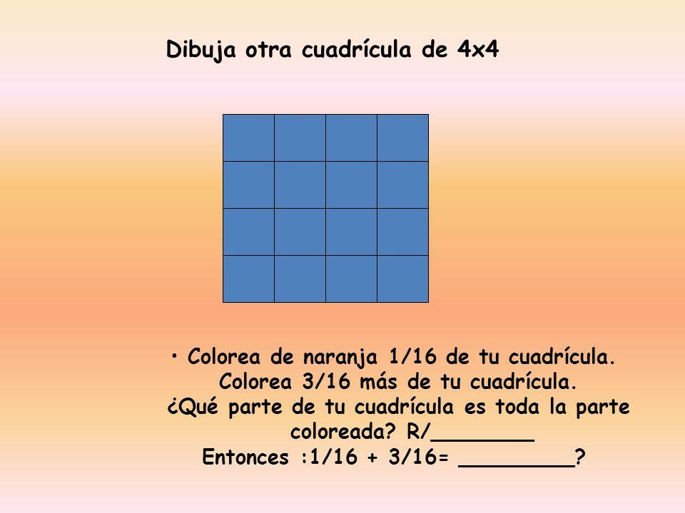 Dibuja otra cuadrícula de 4x4