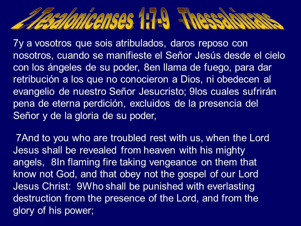 2 Tesalonicenses 1:7-9 Thessaloinans