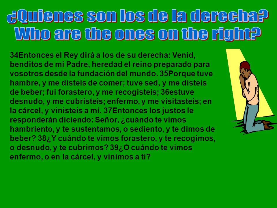 ¿Quienes son los de la derecha Who are the ones on the right